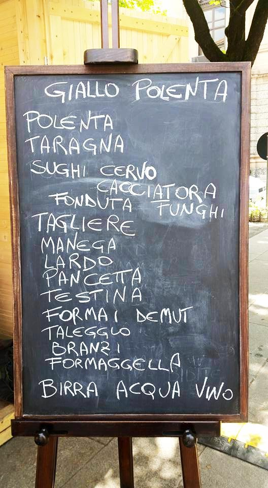 Giallo Polenta menu giallo polenta